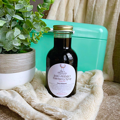 Baby-Friendly Immune-Support Elderberry Syrup (8oz)