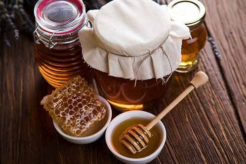 Raw Honey in Mason Jar