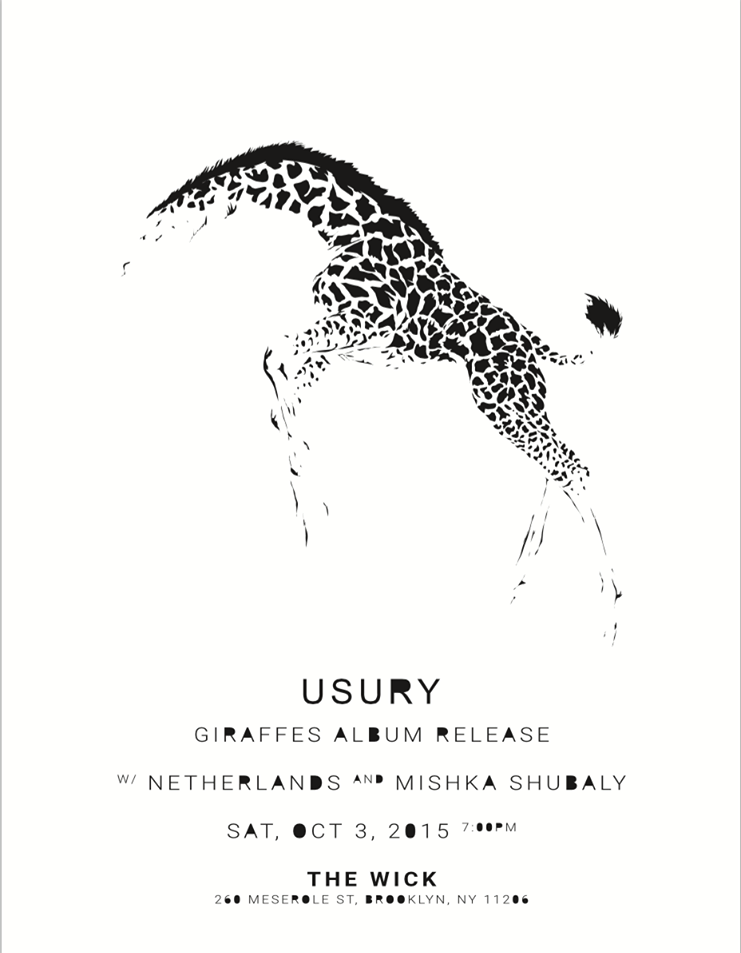 10.3.15 with THE GIRAFFES and MISHKA SHUBALY at THE WICK