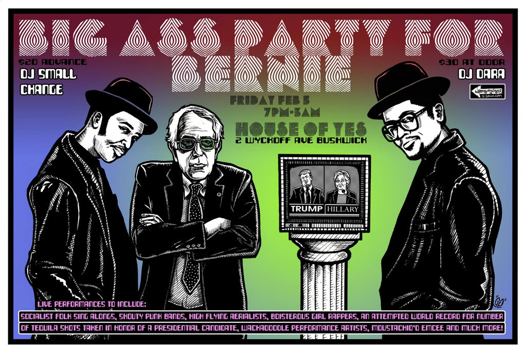 BIG ASS PARTY FOR BERNIE