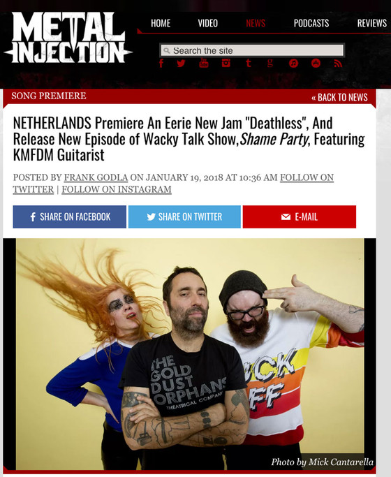 "METAL INJECTION premieres Hope Porn's second single ""DEATHLESS"", along with Episode 8"