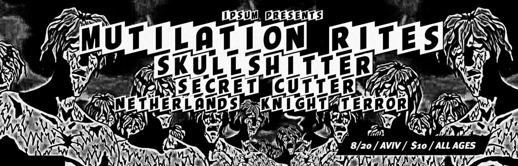 NETHrock with MUTILATION RITES, SKULLSHITTER and KNIGHT TERROR