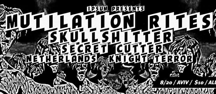 NETHrock with MUTILATION RITES, SKULLSHITTER and KNIGHT TERROR