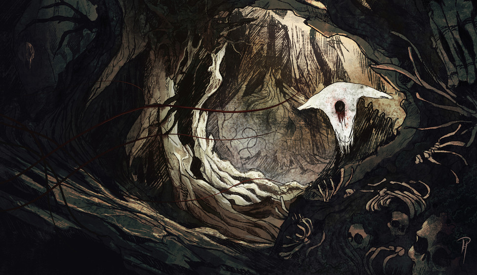 "Poster ""Les kostí"" (The Bone Forest)"