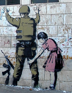 Banksy Stop and search 2007 bethlehem palestina