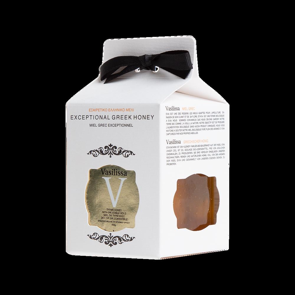 Vasilissa Thyme Honey with 24k Edible Gold