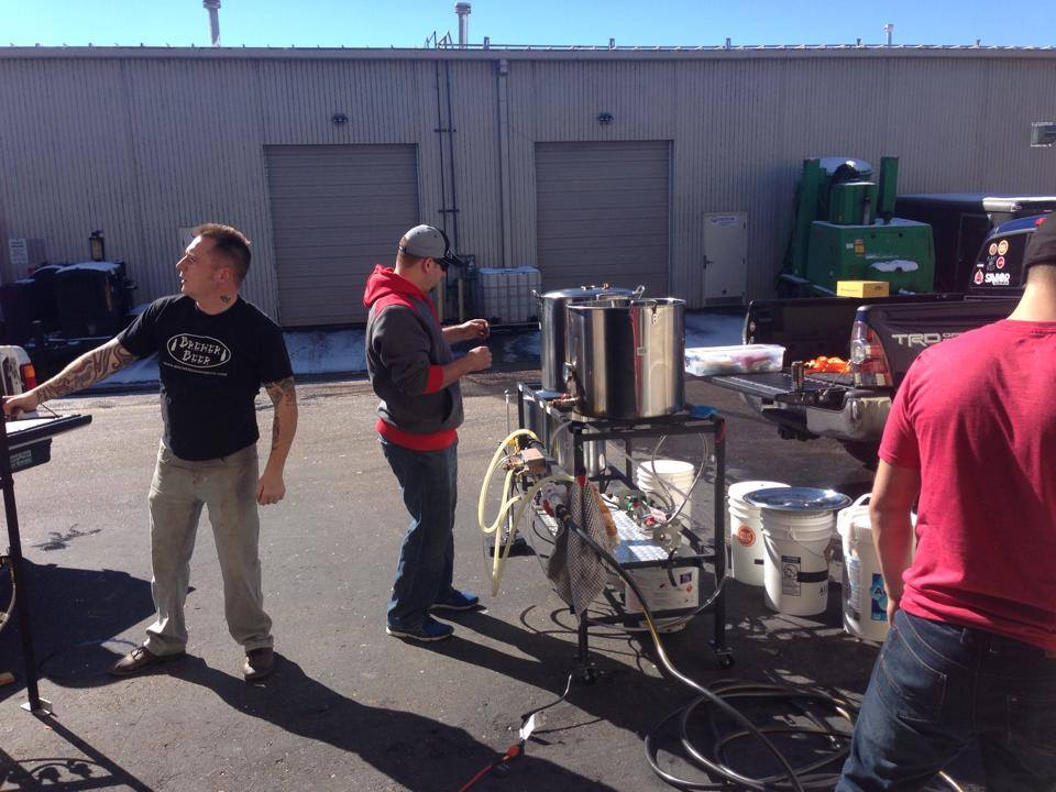 Brew day at Quirky Homebrew