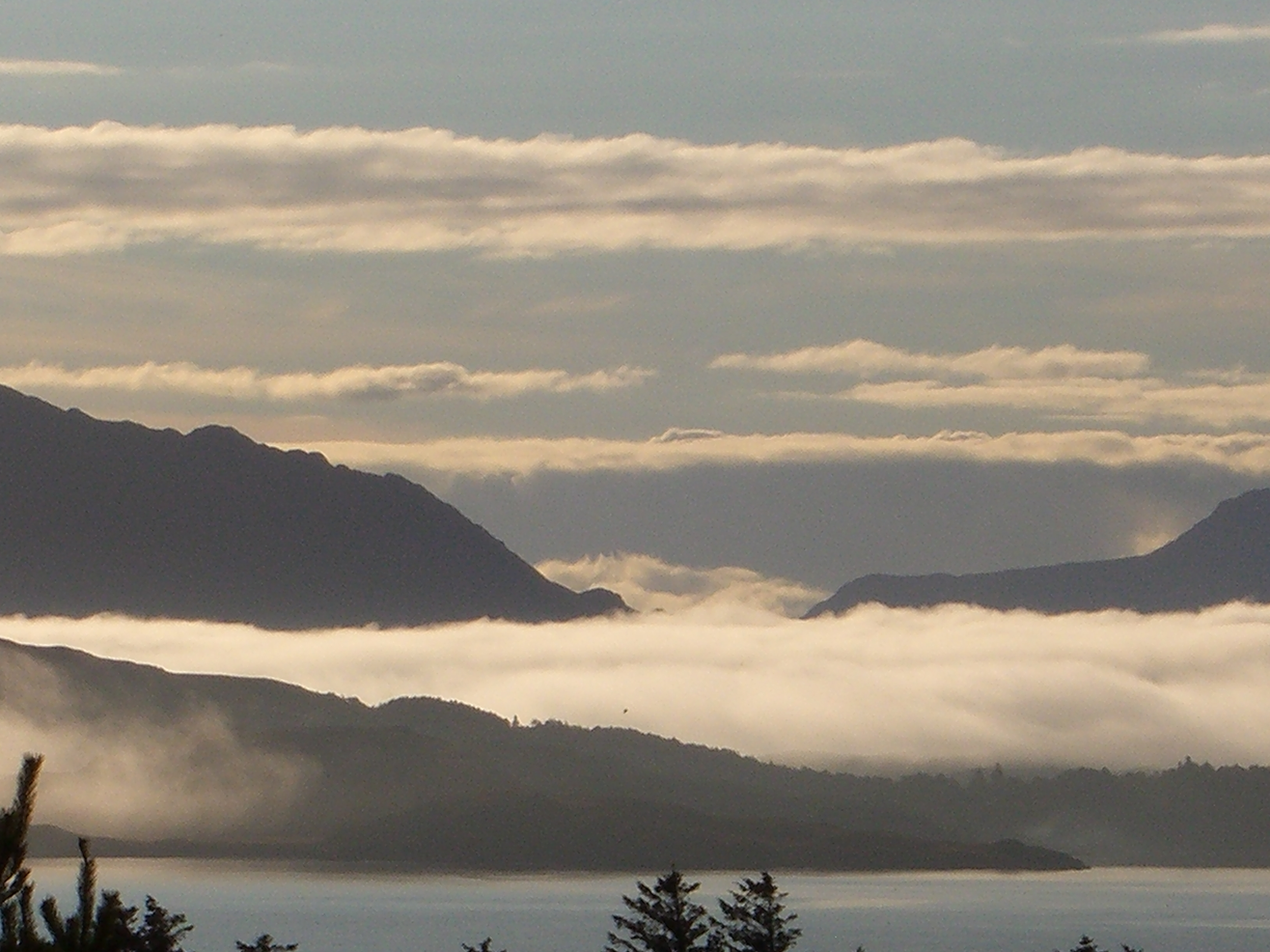 Cloud inversion over Loch Ewe