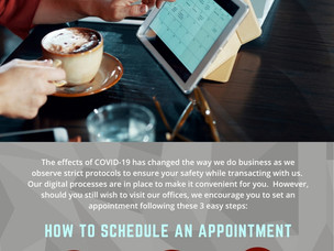 Schedule your appointment online with Avida
