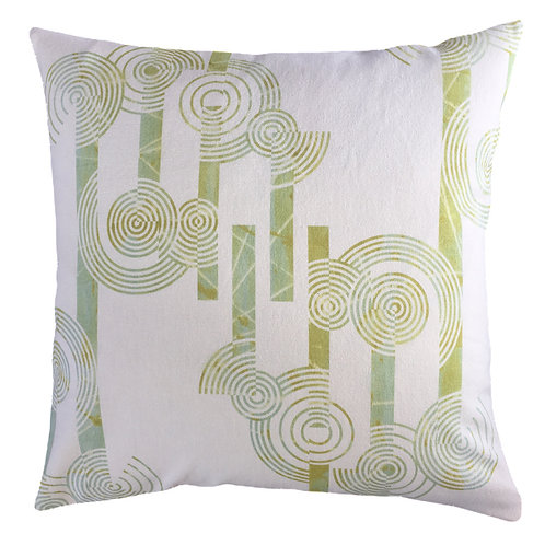 Concentric Circles Cushion Cover -Hemp/Organic Cotton (mid-weight fabric)