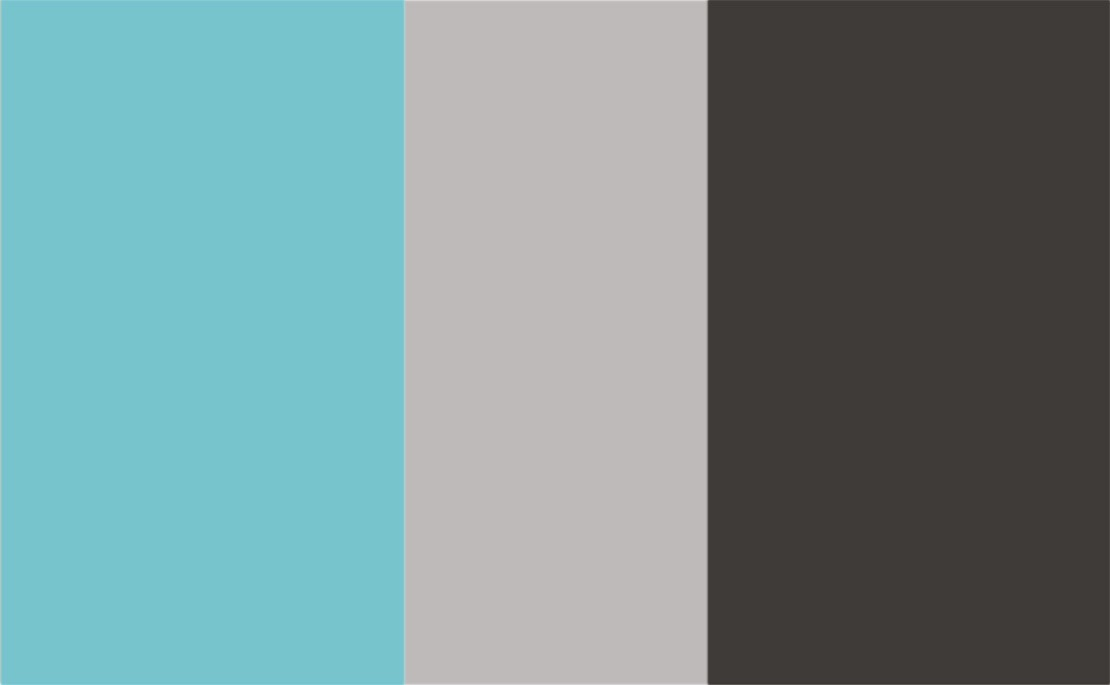 3 Colour Combination-Turquoise/Grey/Charcoal