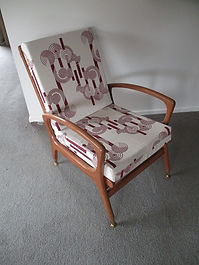 Mid-Century Chair - Red