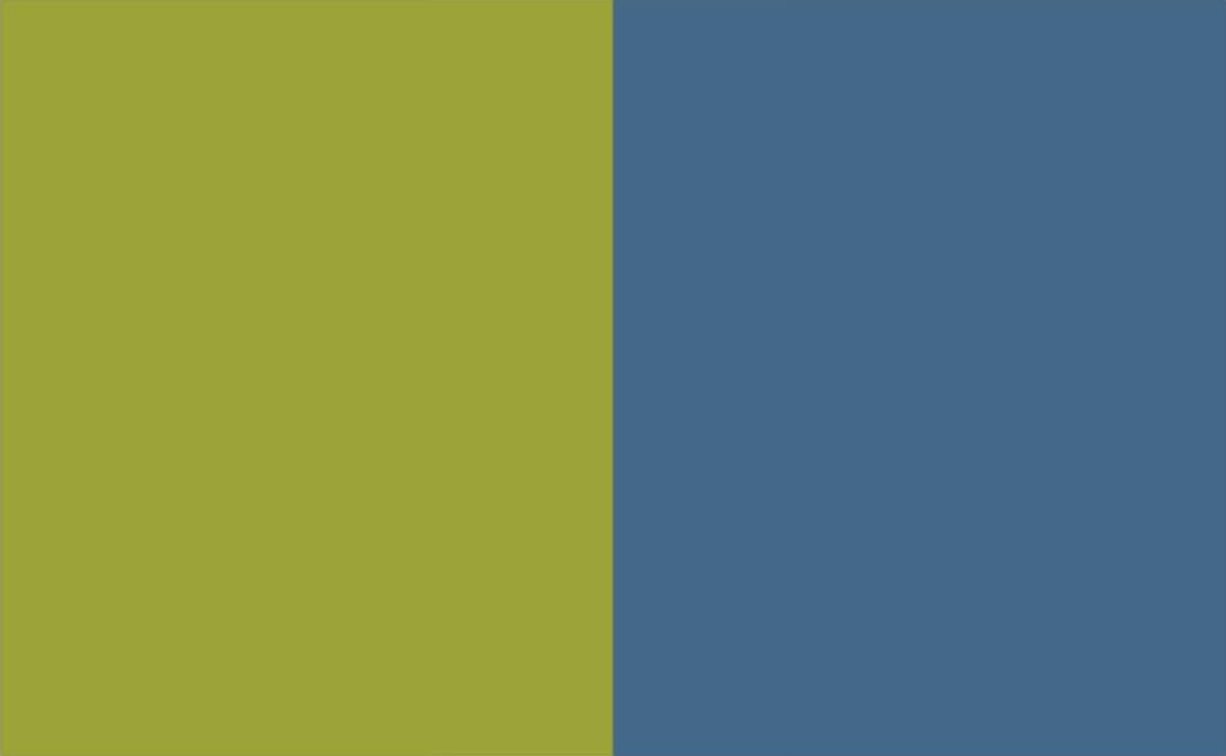 2 Colour Combination-Green/Blue