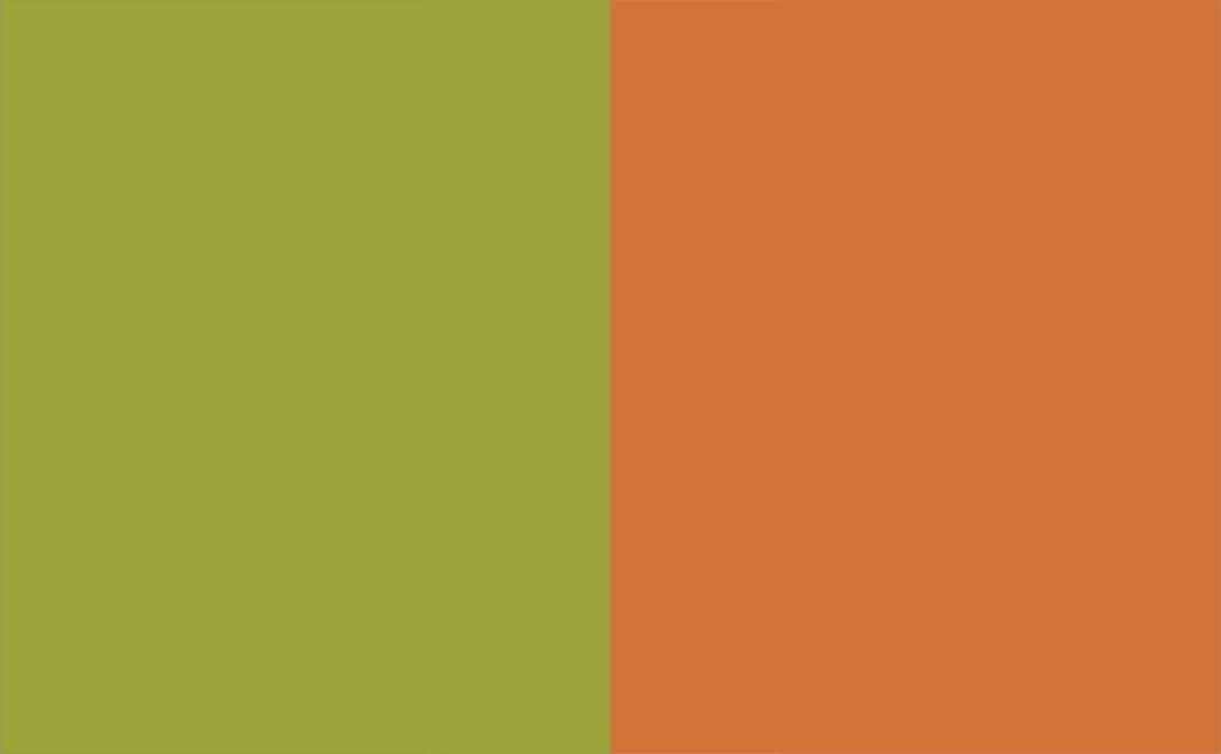 2 Colour Combination-Green/Orange