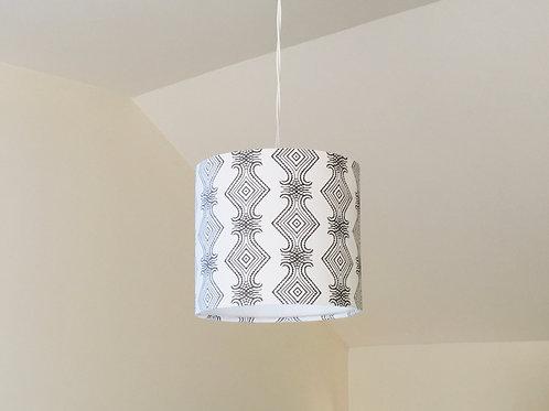 Whakapapa Drum Lampshade - Hemp/Organic Cotton 20x20cm