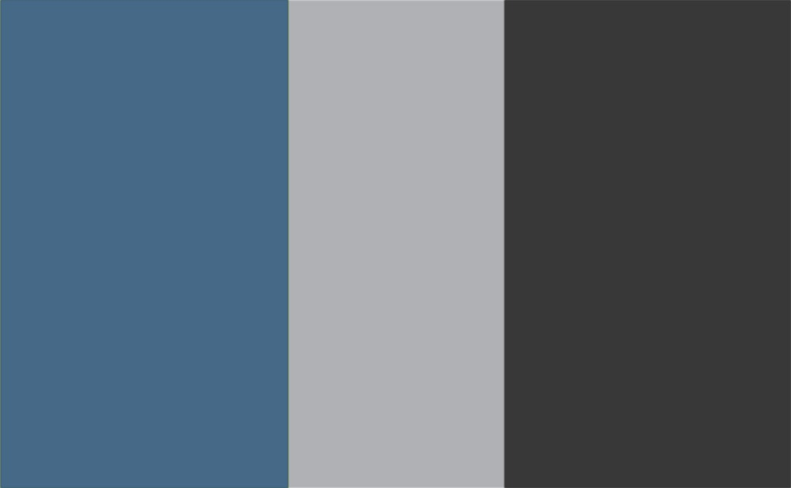 3 Colour Combination-Blue/Grey/Charcoal