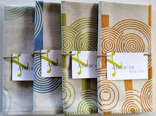 Concentric Circles Tea Towel - Hemp/Organic Cotton