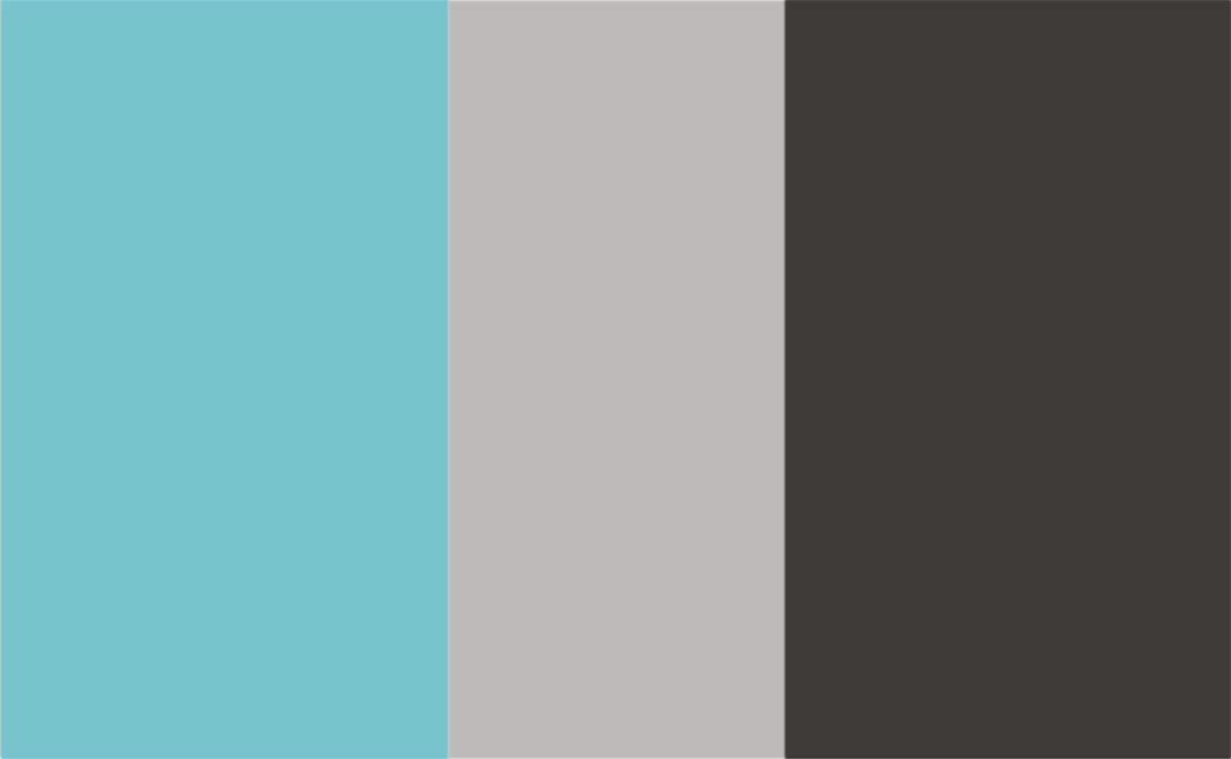 Turquoise/Grey/Charcoal Combo