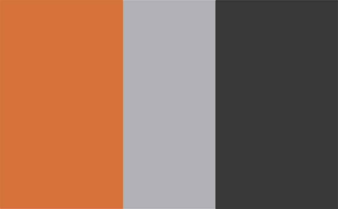 3 Colour Combination-Orange/Grey/Charcoal