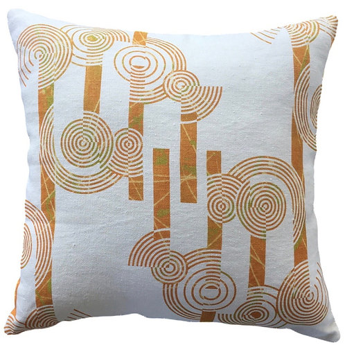 Concentric Circles Cushion Cover -100% HempCanvas