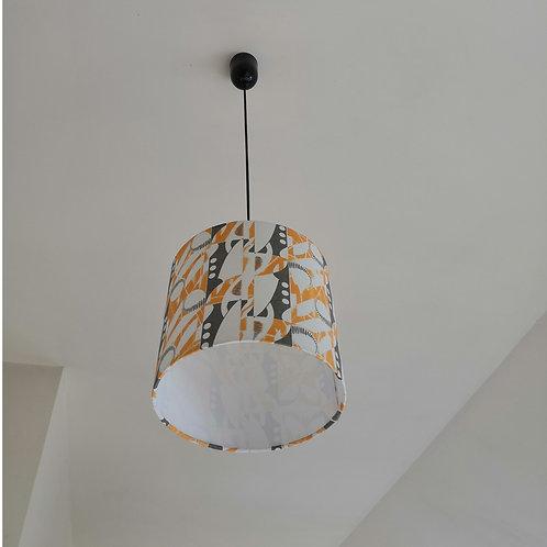 Deco Note Drum Lampshade - Hemp/Organic Cotton ∅25x23cm