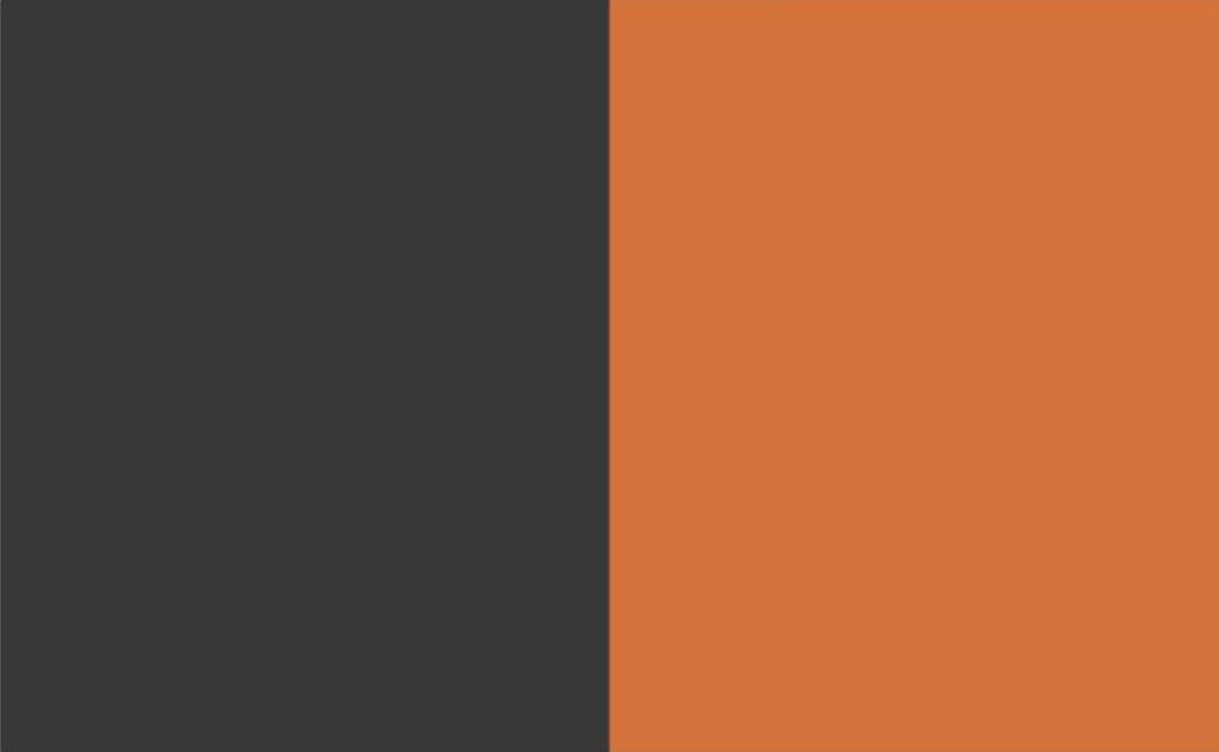 2 Colour Combination-Charcoal/Orange