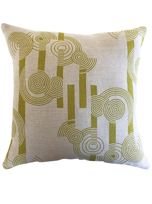 Concentric Circles Cushion Cover - Organic Linen