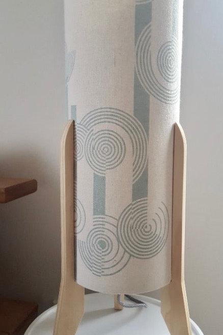 Concentric Circles Large Lamp - Hemp/Organic Circles/Pine