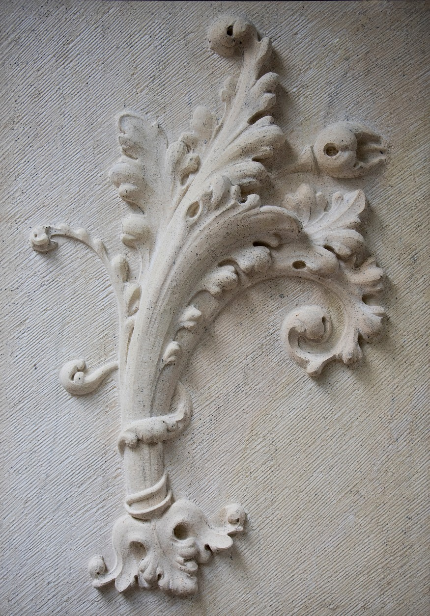 Carved Acanthus or Poppy Spray