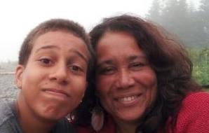 Noah and mom making goofy faces
