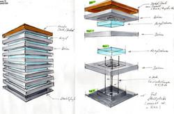 Aussenleuchte Beton-Acryl
