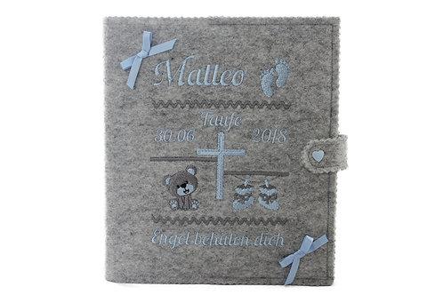 Personalisiertes Taufbuch, Taufalbum DIN A5, mit 36 Innenseiten zum Ausfüllen