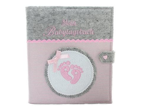 Babytagebuch, Babyalbum DIN A5, 46 Innenseiten zum Ausfüllen+ Platz für Fotos