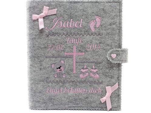 Personalisiertes Taufbuch, Taufalbum DIN A5, Mädchen, 36 Innenseiten