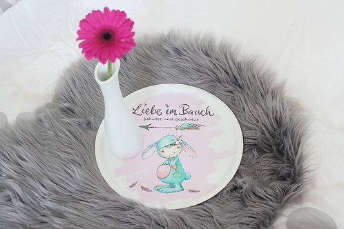 Tablett + GRATIS Merci Download, Kinderzimmerdeko, Geschenk für Schwangere