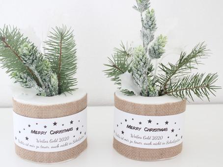 Bastelanleitung für Toilettenpapier Weihnachtsgeschenk