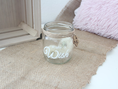 Toller Deko-Trend: Wunschglas selber machen