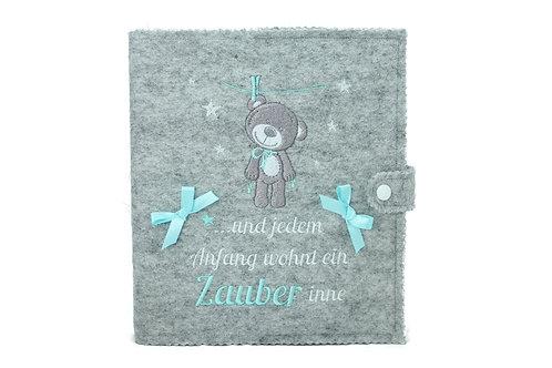 Babytagebuch, Babyalbum DIN A5, 46 Innenseiten zum Ausfüllen+ Platz fü