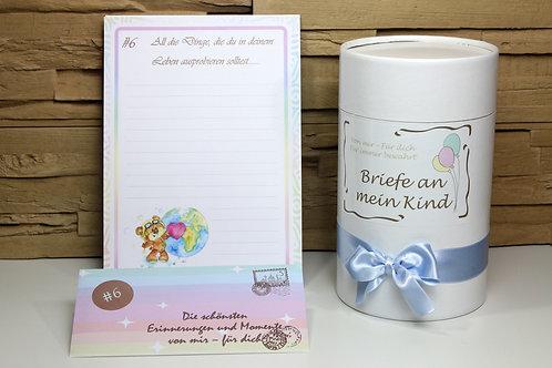 Briefe an mein Kind, Buben, Erinnerungsbriefe, Geschenk zur Geburt, Babytagebuch