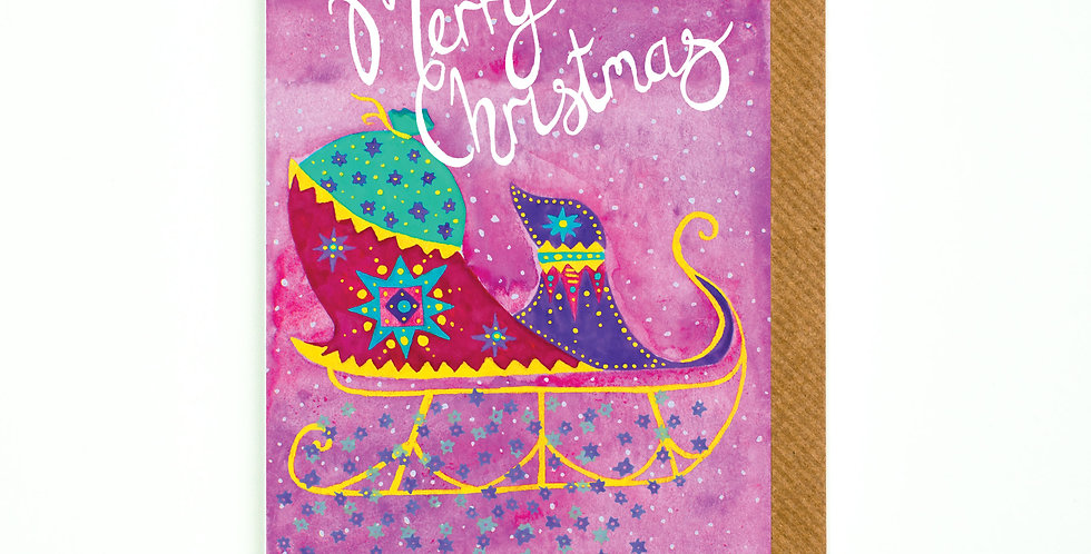 Merry Christmas Santa's Sleigh Card