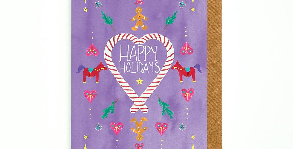 Happy Holidays Festive Flash Card