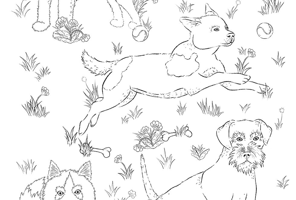Doggos Colouring Sheets Pack