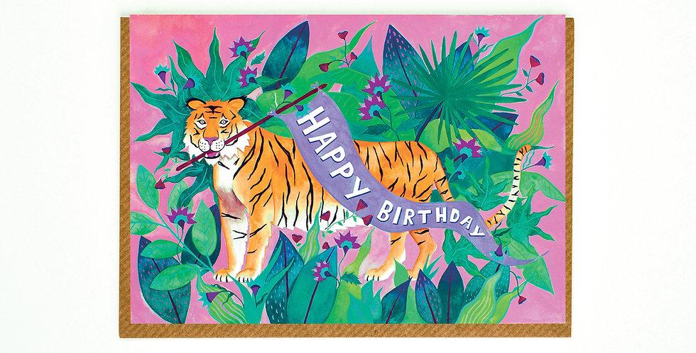 Happy Birthday Jungle Tiger Card