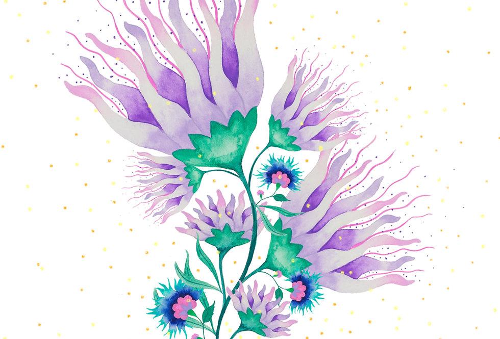 Folk Flowers No.2