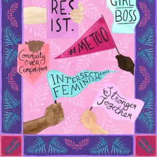 Feminist illustration to celebrate International Women's Day