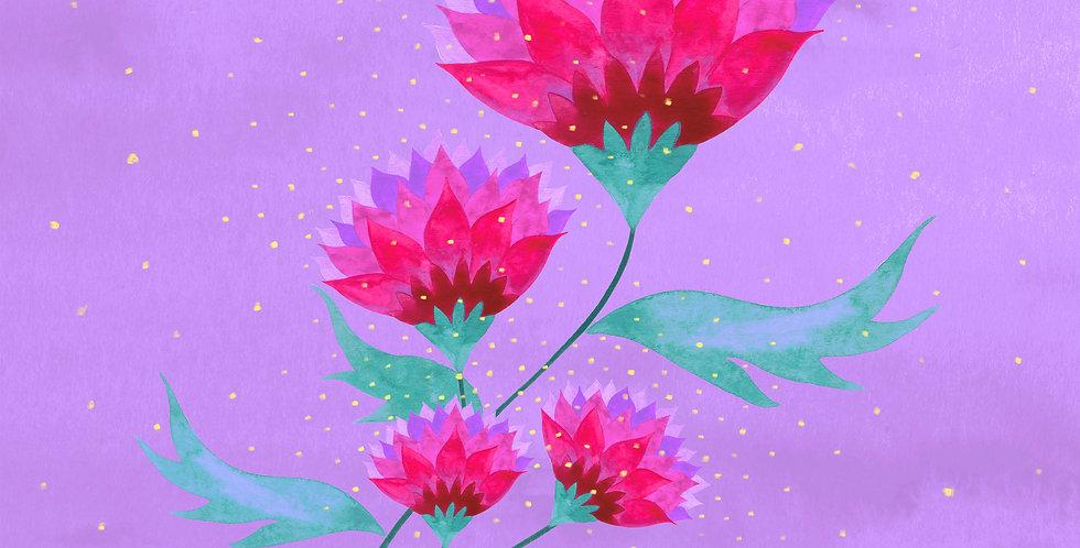 Folk Flowers No.1