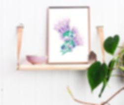 FLOWERS 1 COPPER FRAME + SHELF +  PLANTS