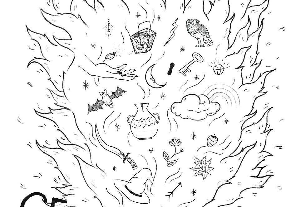 Set Your Mind On FireColouring Sheet