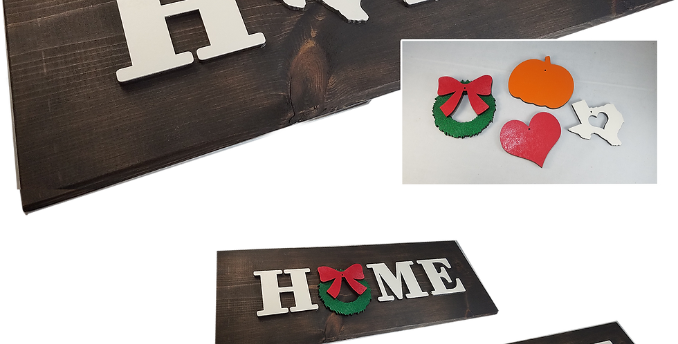 "Wood Decor ""HOME""sign"
