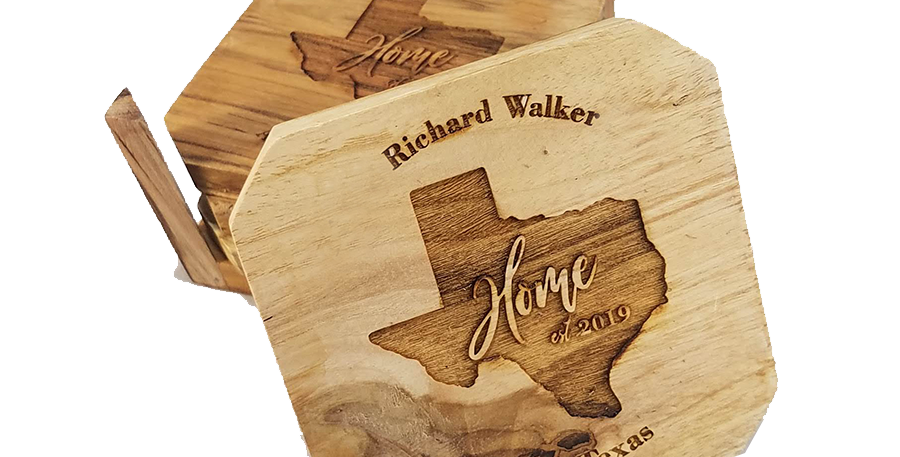 Client Provided Coasters Laser Etching( 4 coaster set only )
